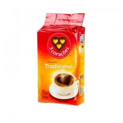 Brazilska kava, tradicionlana, 3 CORAÇÕES, 250g